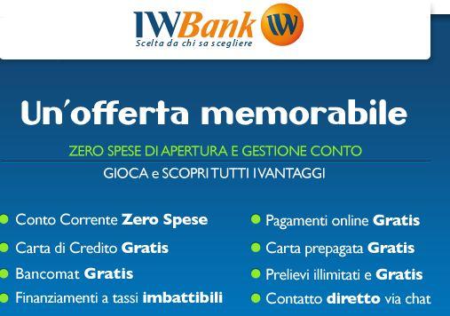 iwbank conto corrente